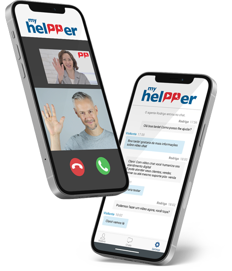 Provide customer service on any device, anytime, with the My Helpper app.